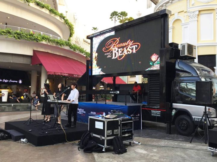 In conjunction with the long-awaited live action remake of Beauty & The Beast movie release, Mobiled collaborated with Gurney Paragon Mall to hold our first ever outdoor movie screening!